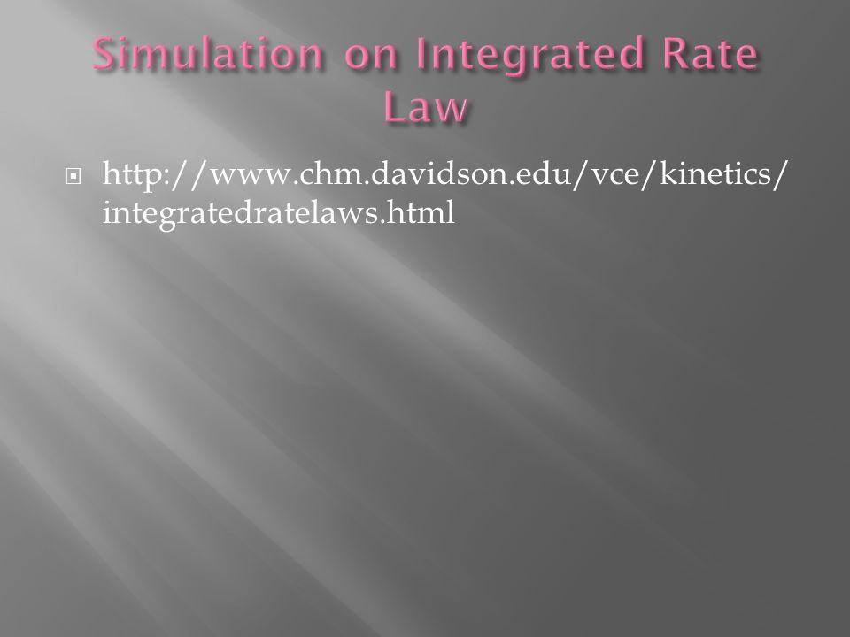  http://www.chm.davidson.edu/vce/kinetics/ integratedratelaws.html