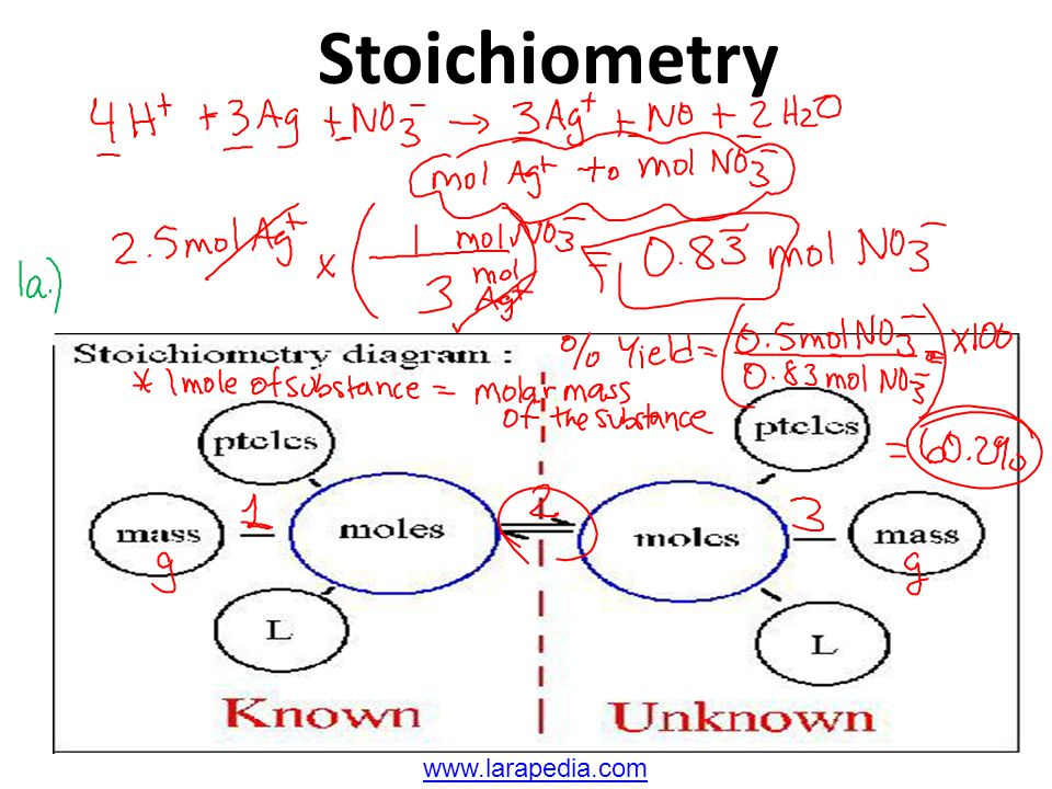 Stoichiometry www.larapedia.com