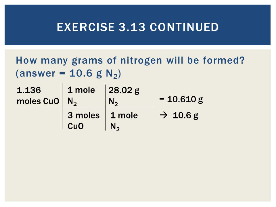 How many grams of nitrogen will be formed.