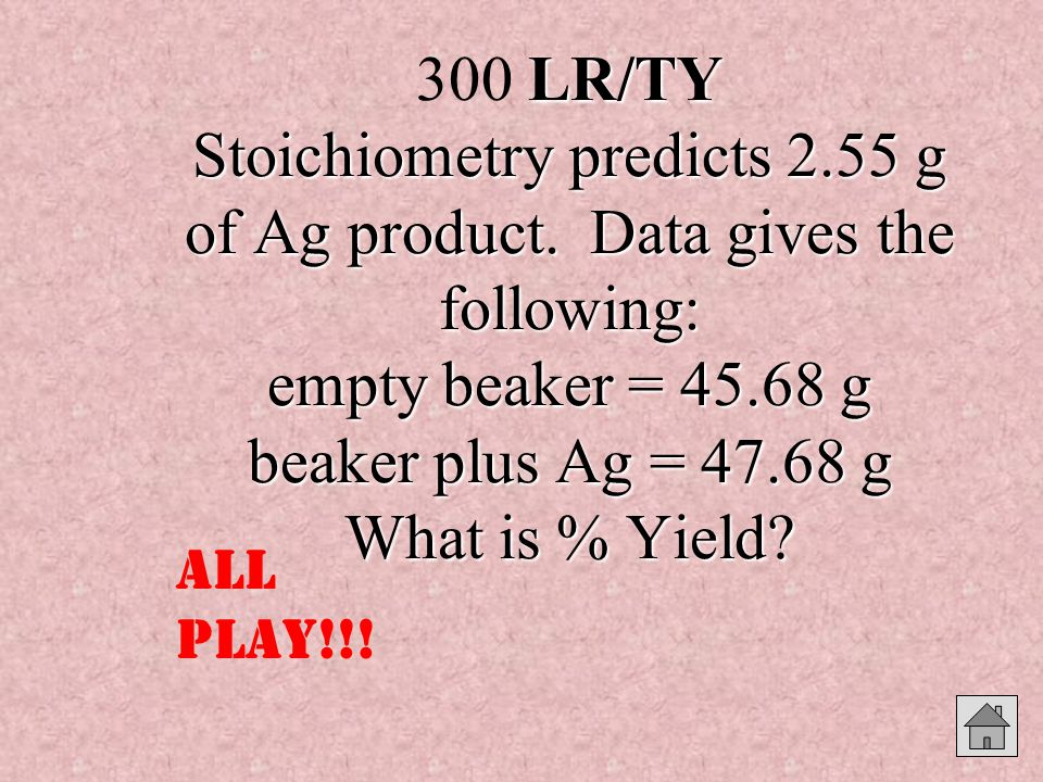 LR/TY Stoichiometry predicts 2.55 g of Ag product.