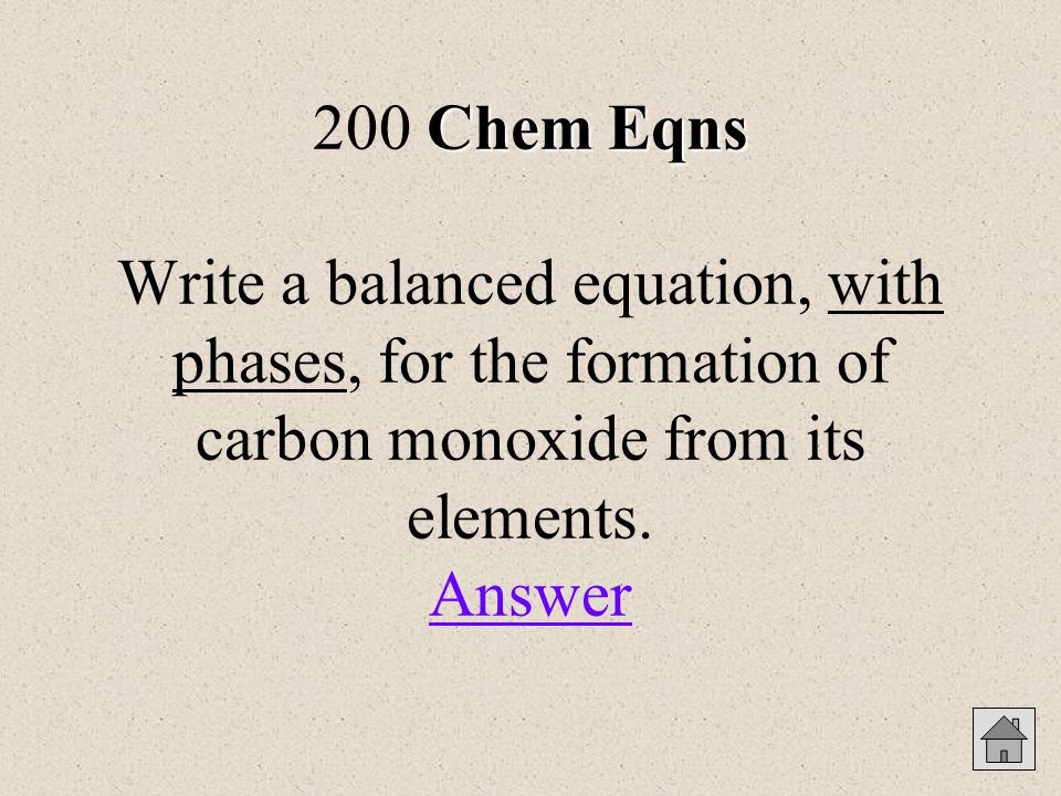 Answers for Potpourri 200 The maximum amount of product possible in a chemical reaction is theoretical yield.
