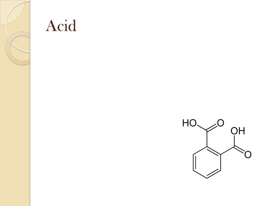 Acid Substance that releases H+ ions and produces hydronium ions when dissolved in water.