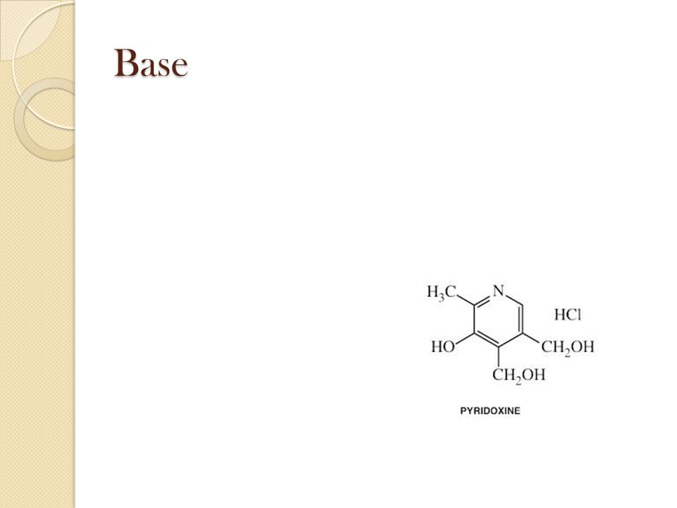 Base Substance that accepts H+ ions and produces hydroxide ions when dissolved in water.