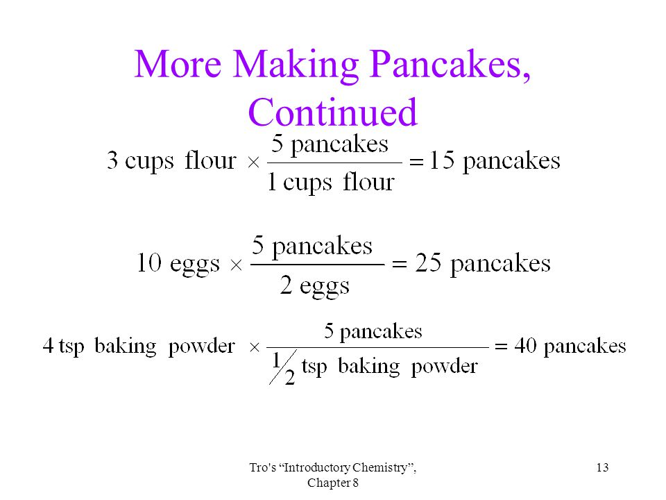 13Tro s Introductory Chemistry , Chapter 8 More Making Pancakes, Continued