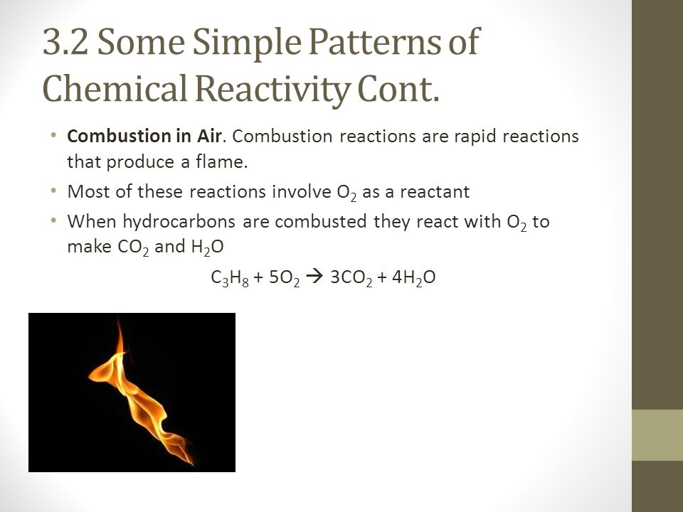 3.2 Some Simple Patterns of Chemical Reactivity Cont.