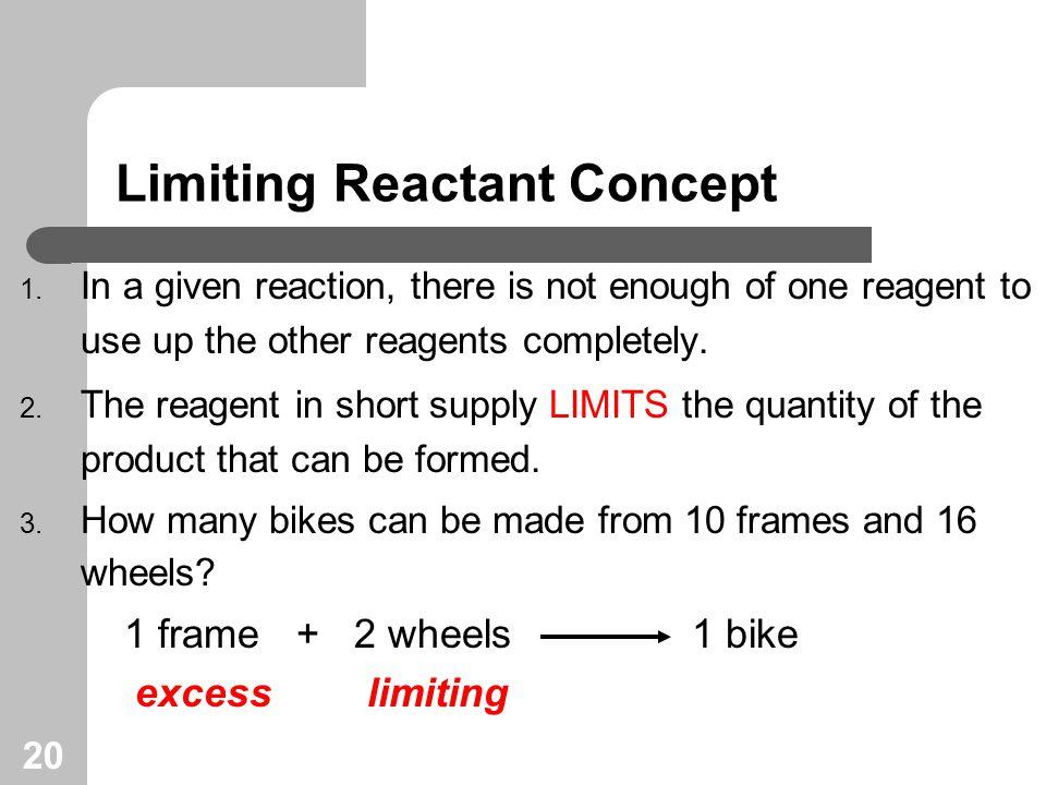 20 Limiting Reactant Concept 1.
