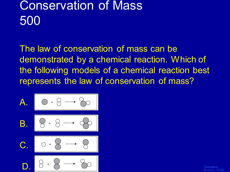 Template by Bill Arcuri, WCSD What is mass is conserved in a closed system .