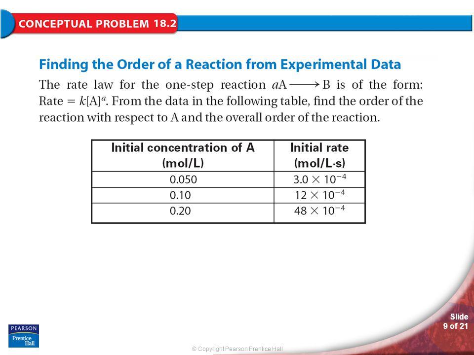 © Copyright Pearson Prentice Hall Slide 9 of 21 Conceptual Problem 18.2