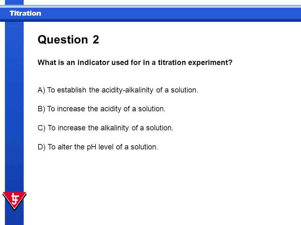 Titration 6 What does a titration curve represents.