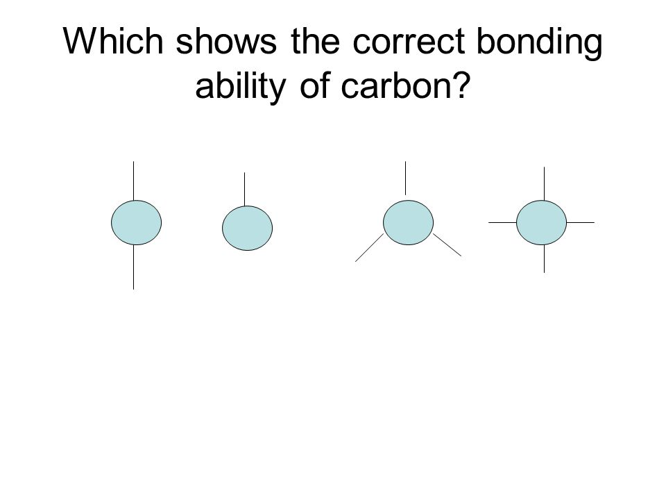 Which shows the correct bonding ability of carbon?