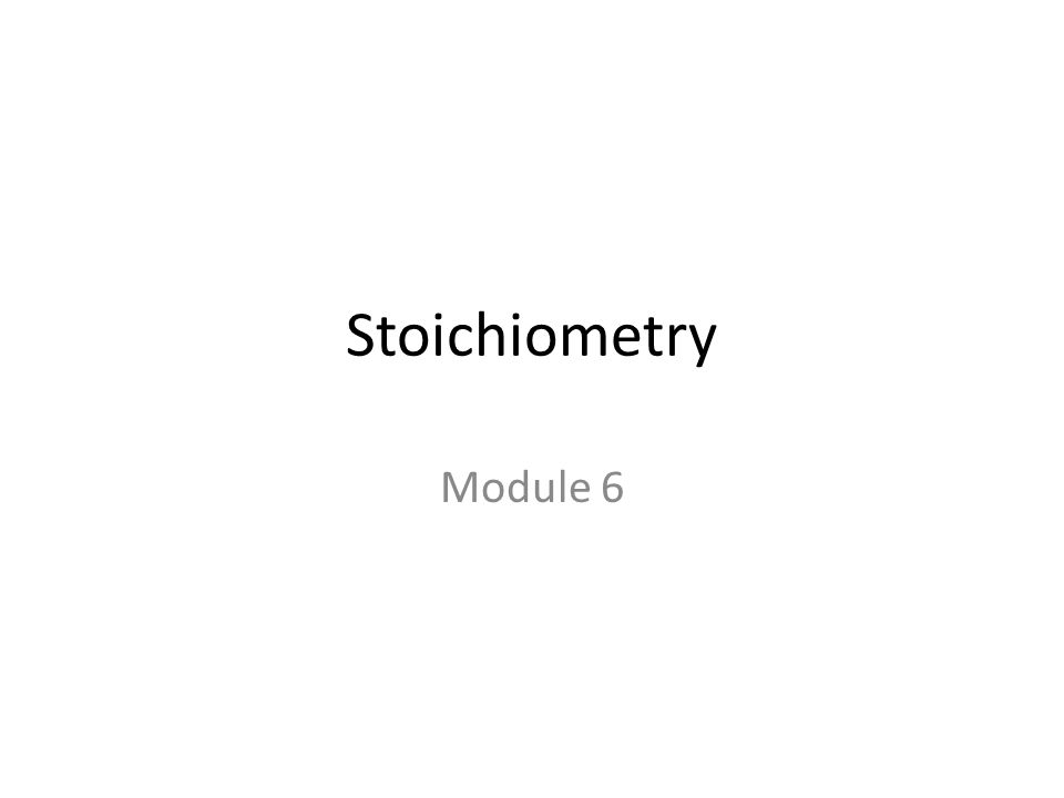 Mole Relationships in Chemical Equations You do not always have stoichiometry problems where you are given the reactants and then asked for the product.