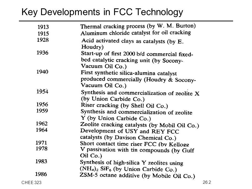 CHEE 32326.2 Key Developments in FCC Technology