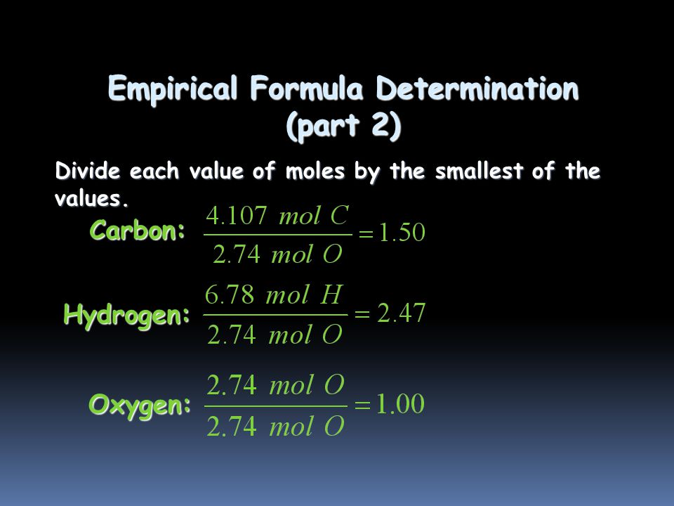 Empirical Formula Determination Adipic acid contains 49.32% C, 43.84% O, and 6.85% H by mass.