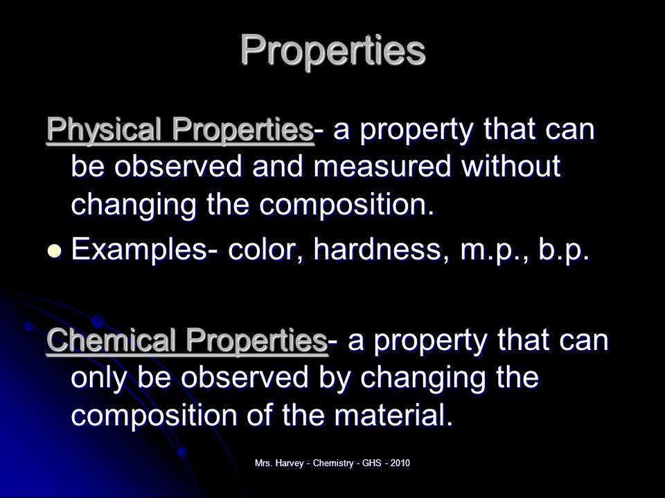 Classification of Matter Mrs. Harvey - Chemistry - GHS - 2010