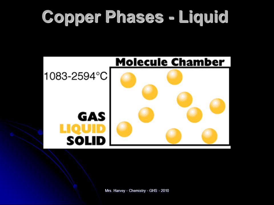 Copper Phases – Vapor (gas) Mrs. Harvey - Chemistry - GHS - 2010