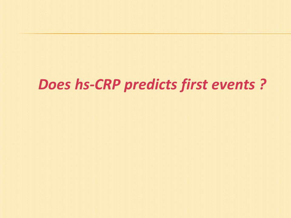 Does hs-CRP predicts first events