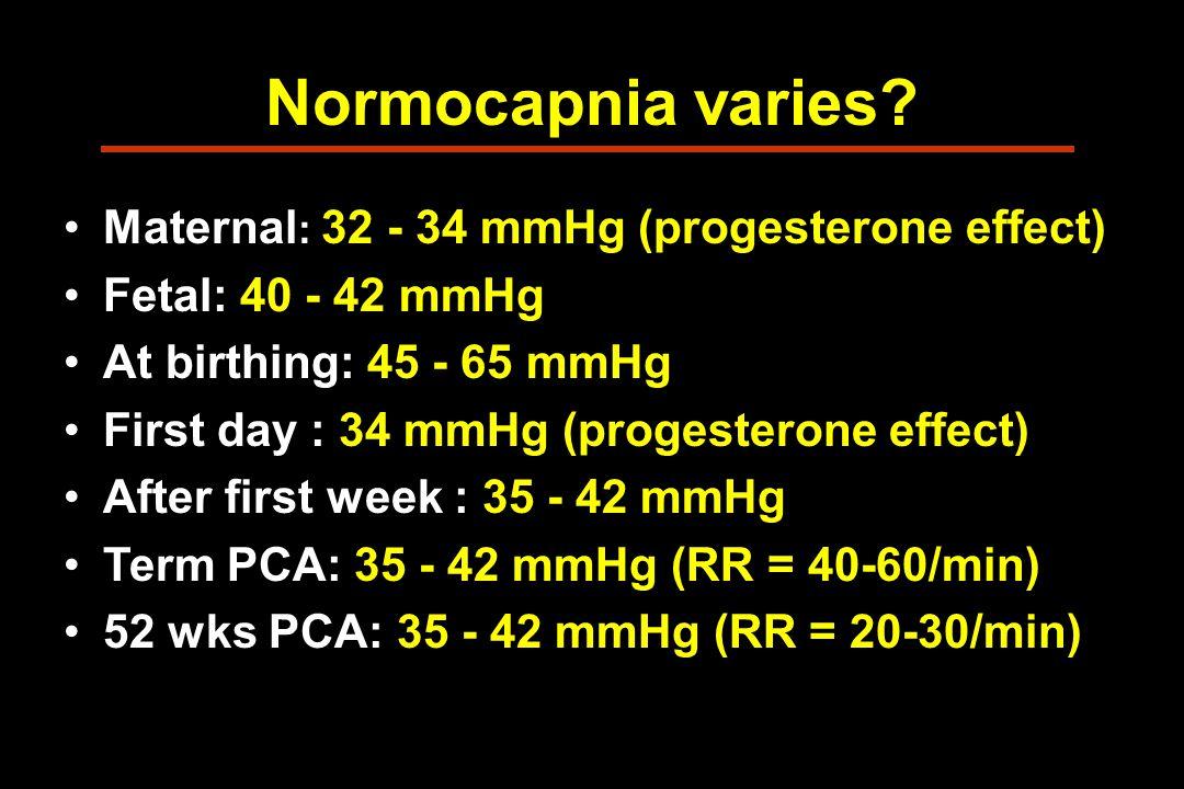 Normocapnia varies.
