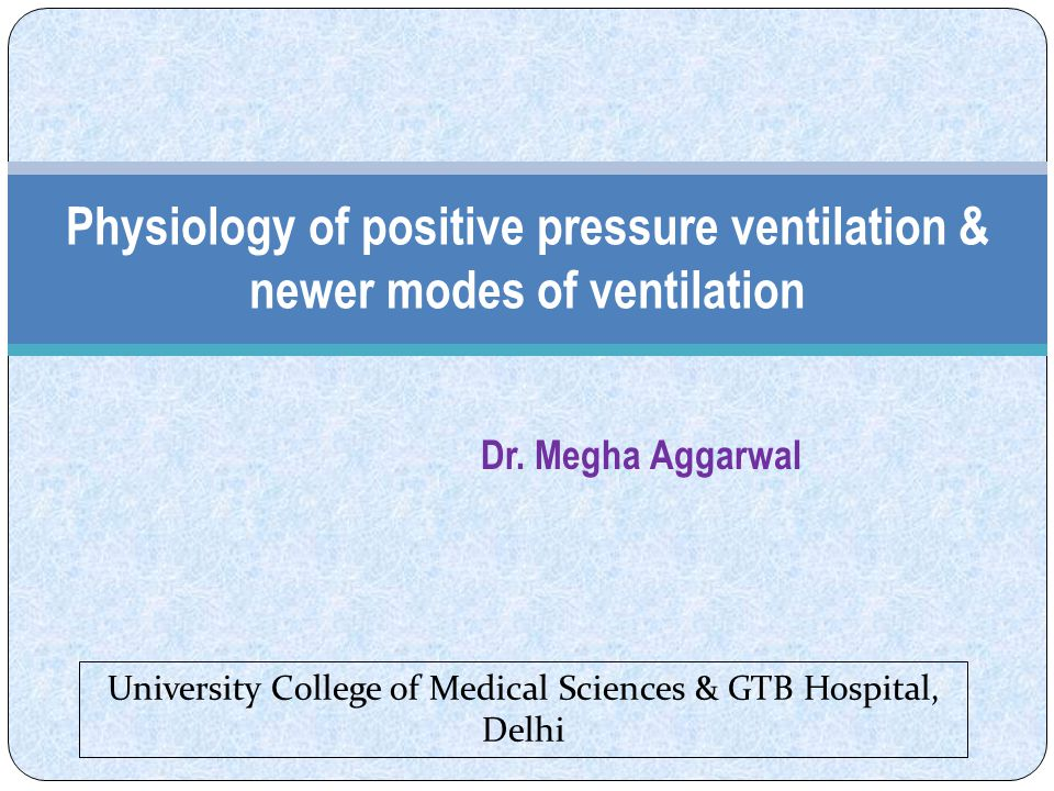 Mechanical ventilation – supports / replaces the normal ventilatory pump moving air in & out of the lungs.