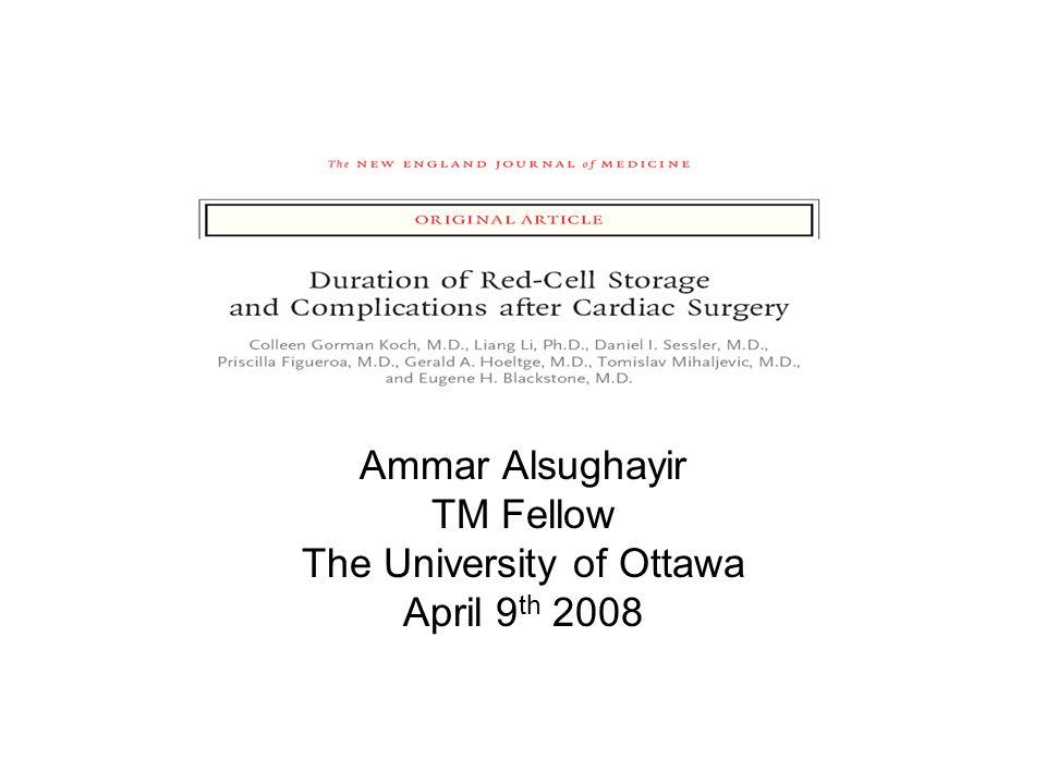 Ammar Alsughayir TM Fellow The University of Ottawa April 9 th 2008