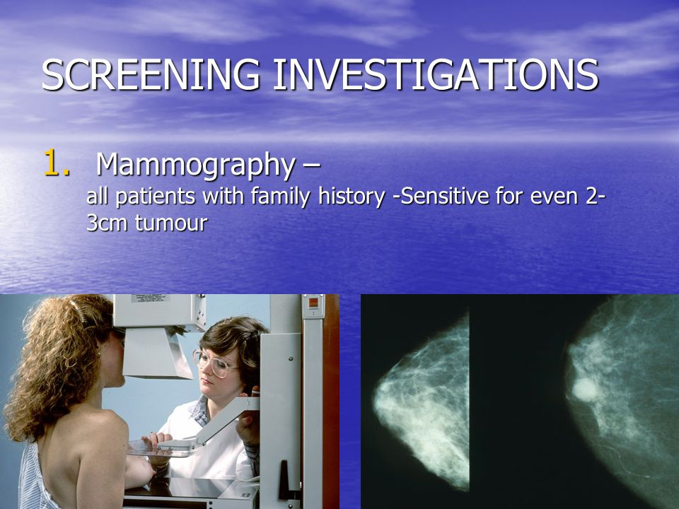 SCREENING INVESTIGATIONS 1.