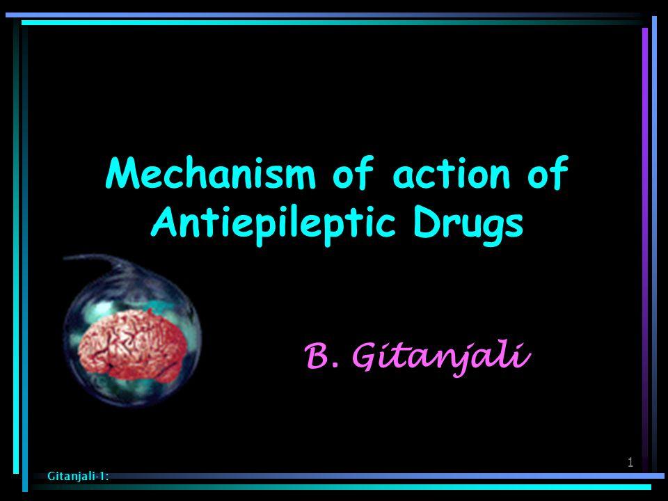 1 Mechanism of action of Antiepileptic Drugs Gitanjali-1: B. Gitanjali