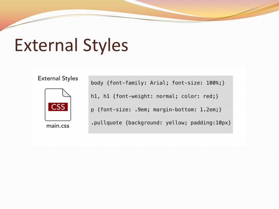 External Styles