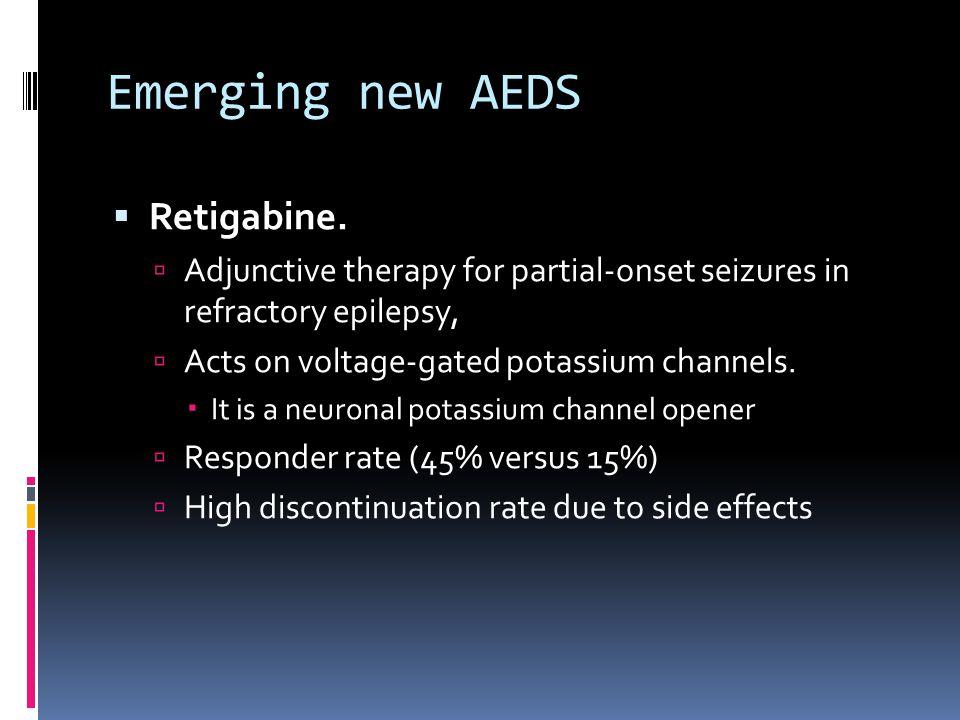 Emerging new AEDS  Retigabine.