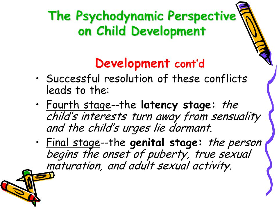 The Psychodynamic Perspective on Child Development The Structure of Personality Freud suggested that the personality is composed of three different structures which interact: ID – that part of the personality that is the unconscious reservoir of psychic energy and the source of later development.
