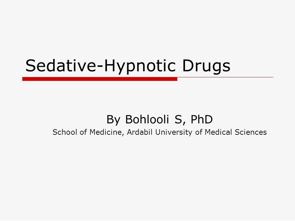 Dose-response curves for two hypothetical sedative-hypnotics