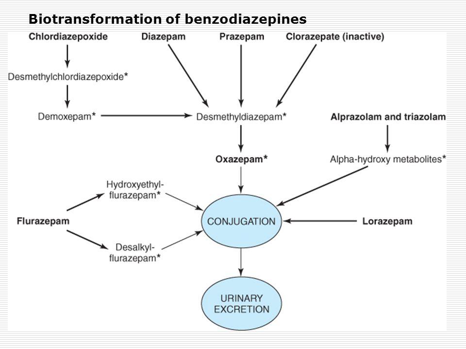 Biotransformation of benzodiazepines
