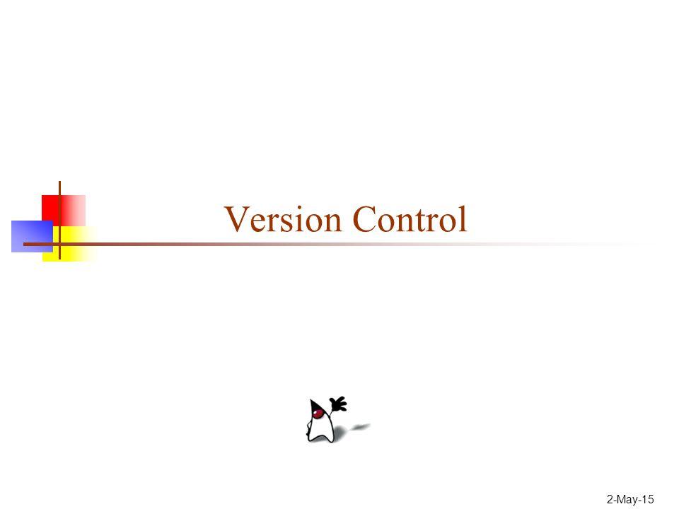 2-May-15 Version Control