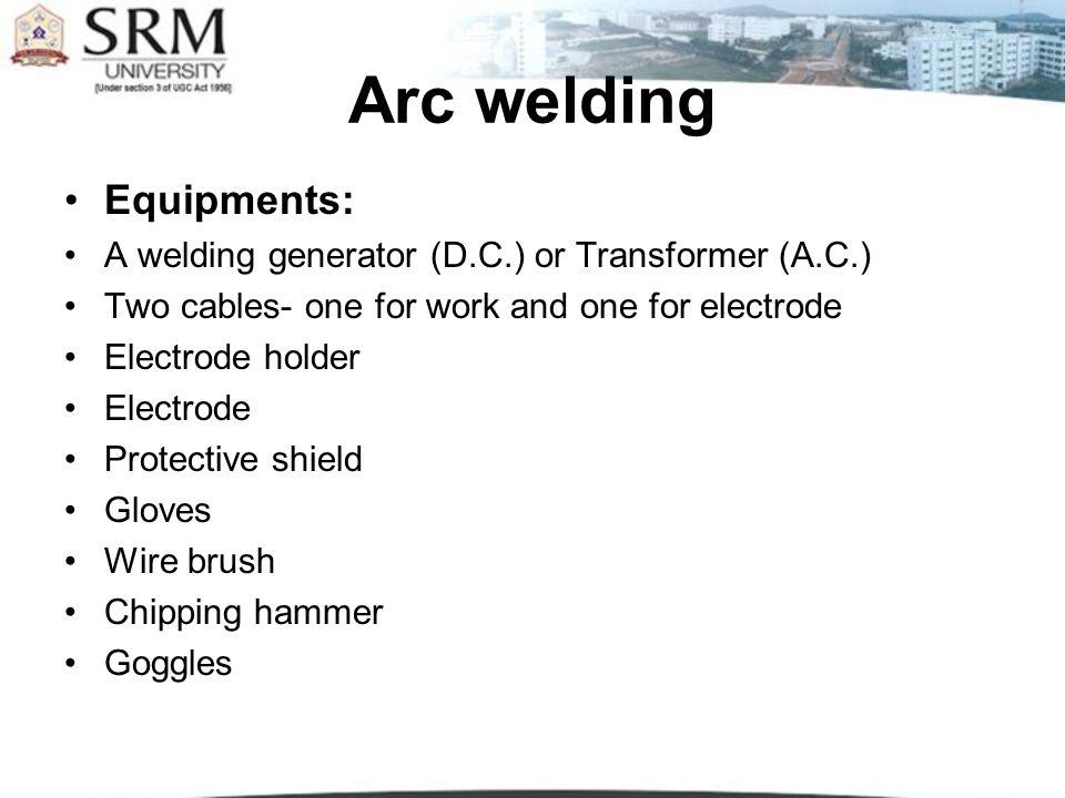 Arc Welding Equipments
