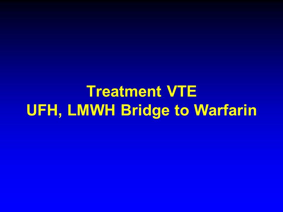 Treatment VTE UFH, LMWH Bridge to Warfarin