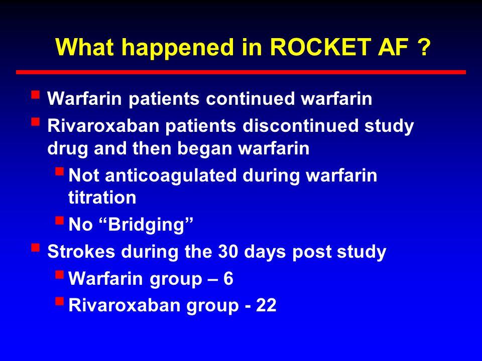 What happened in ROCKET AF .