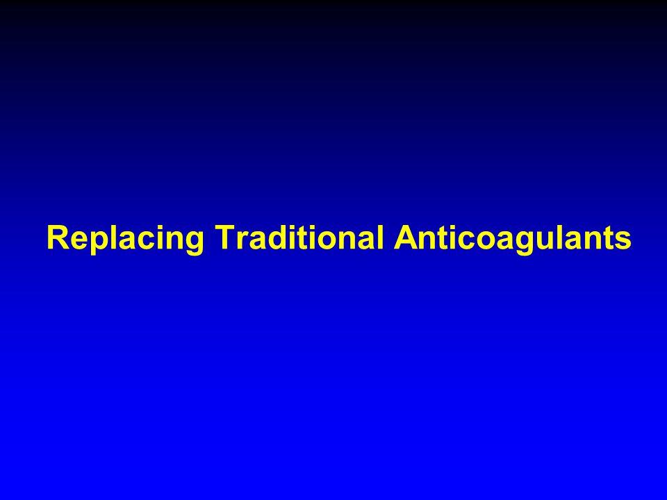 Replacing Traditional Anticoagulants