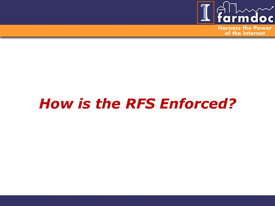 How is the RFS Enforced