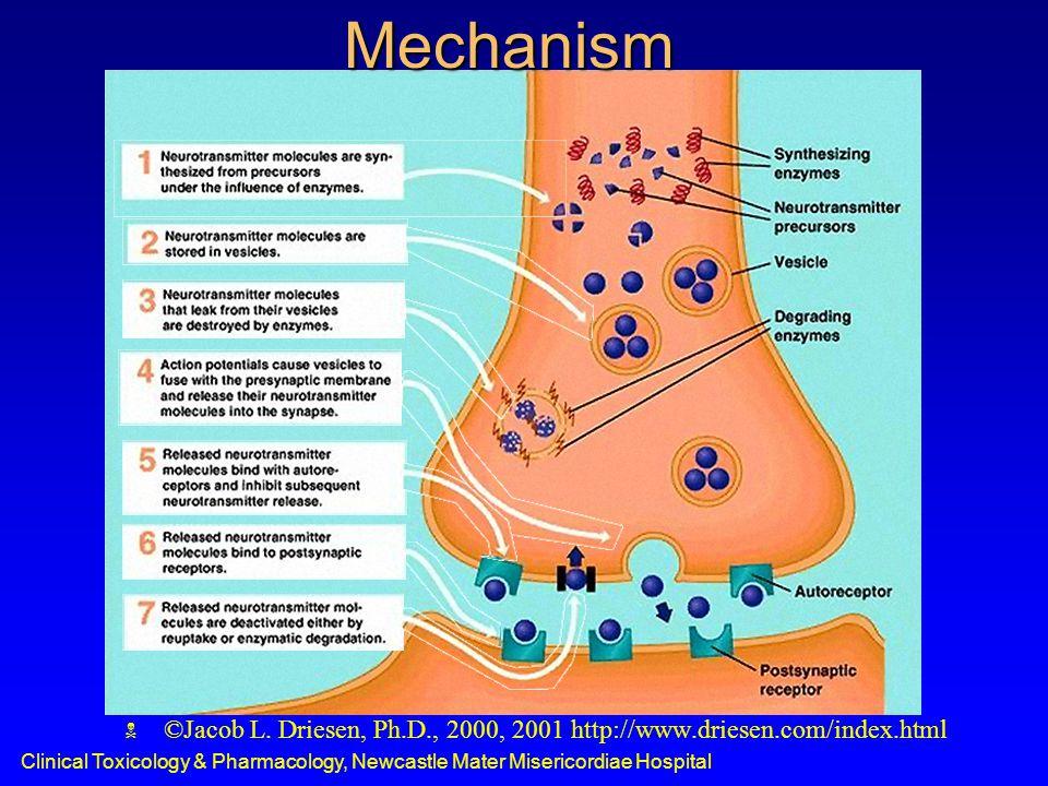 Clinical Toxicology & Pharmacology, Newcastle Mater Misericordiae HospitalMechanism  ©Jacob L.