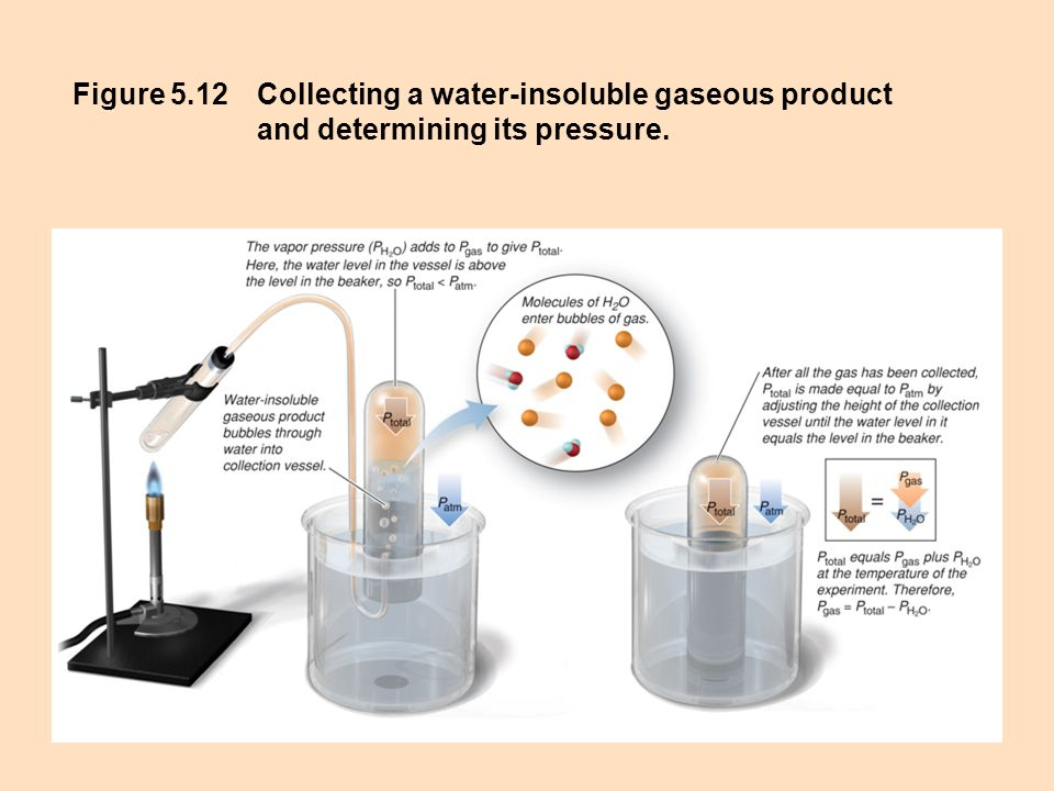 Figure 5.12Collecting a water-insoluble gaseous product and determining its pressure.
