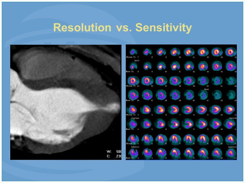Resolution vs. Sensitivity