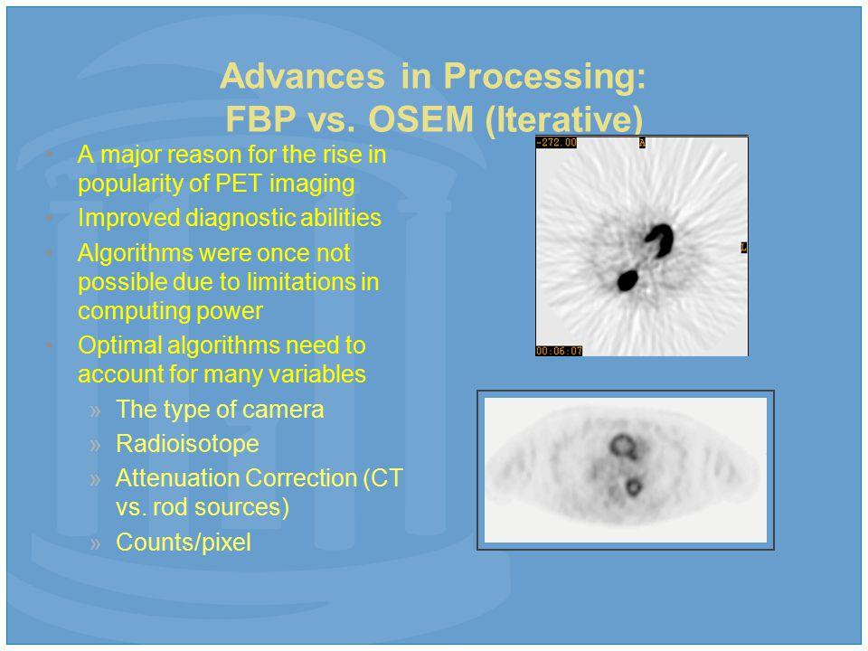 Advances in Processing: FBP vs.