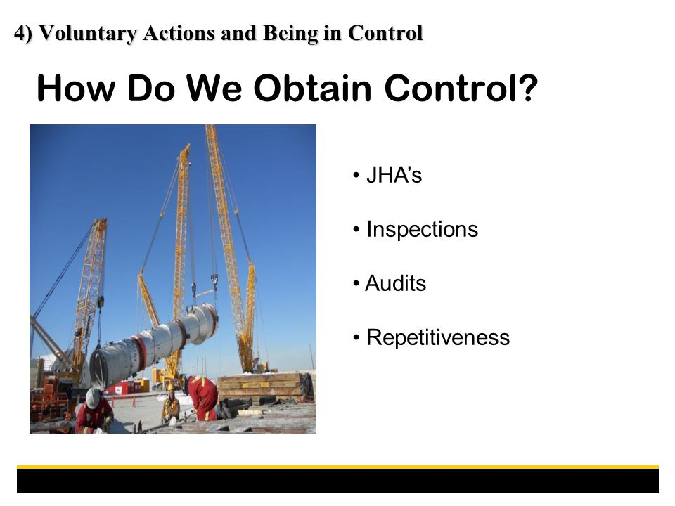 How Do We Obtain Control.