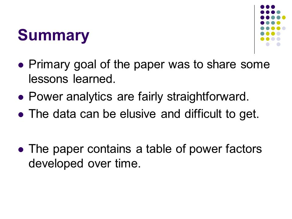 Summary Primary goal of the paper was to share some lessons learned.
