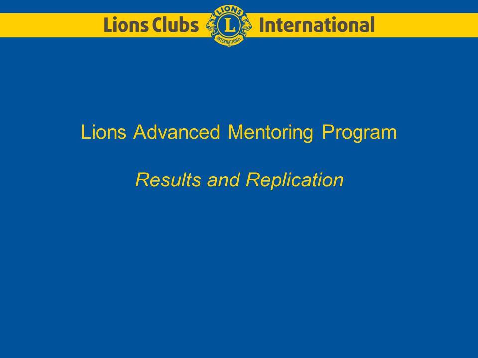 LIONS CLUBS INTERNATIONALLions Mentoring Program Which level do I belong to.