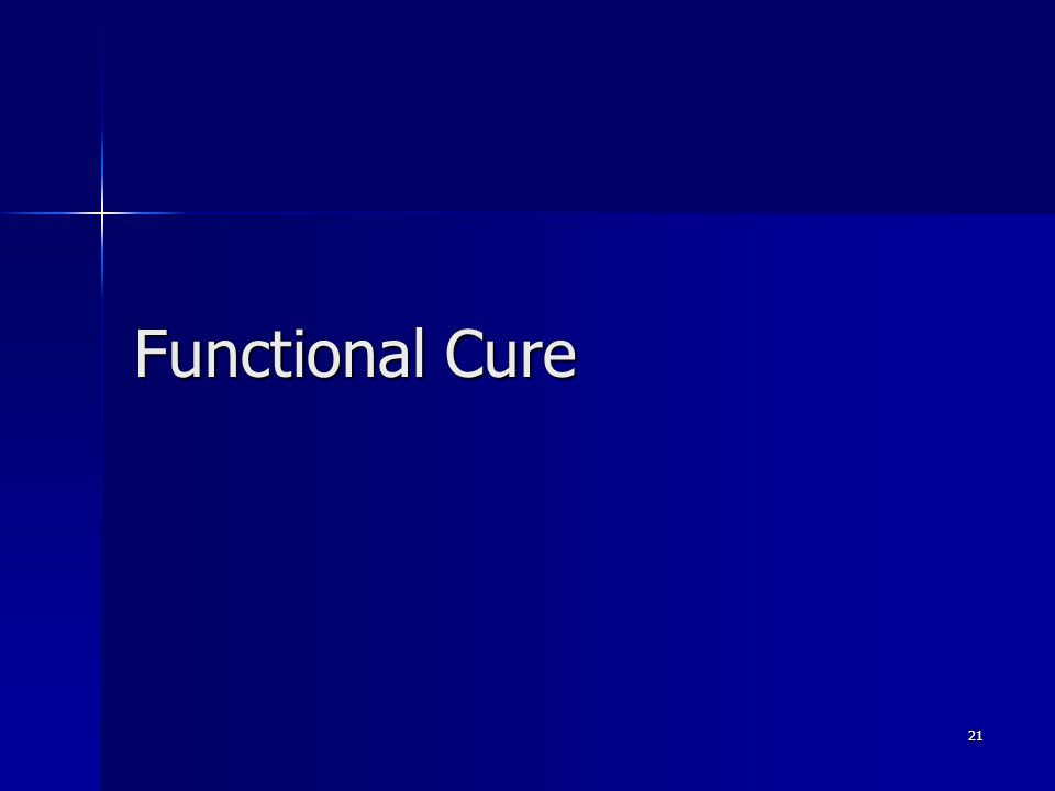 Functional Cure 21