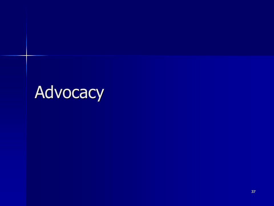 Advocacy 37