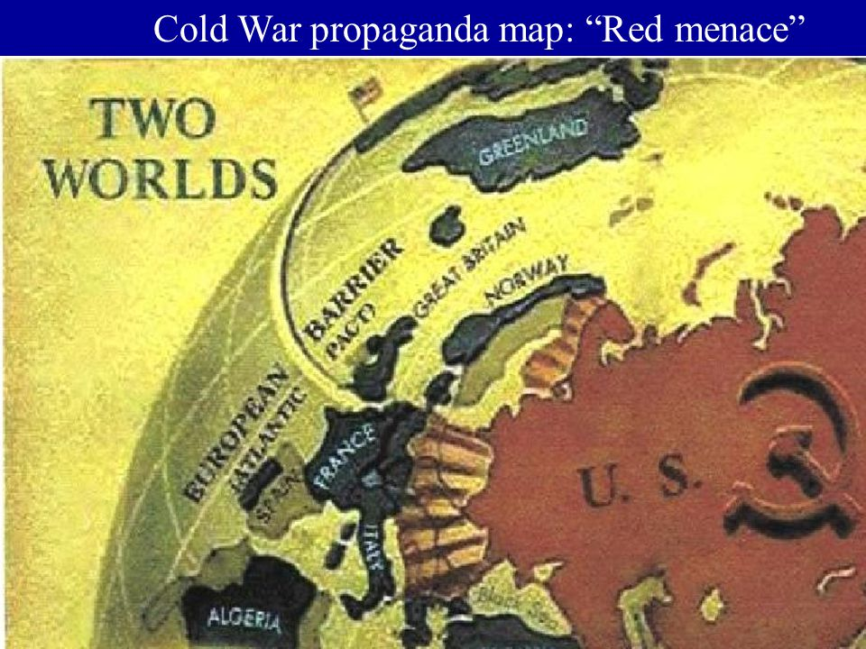Cold War propaganda map: Red menace