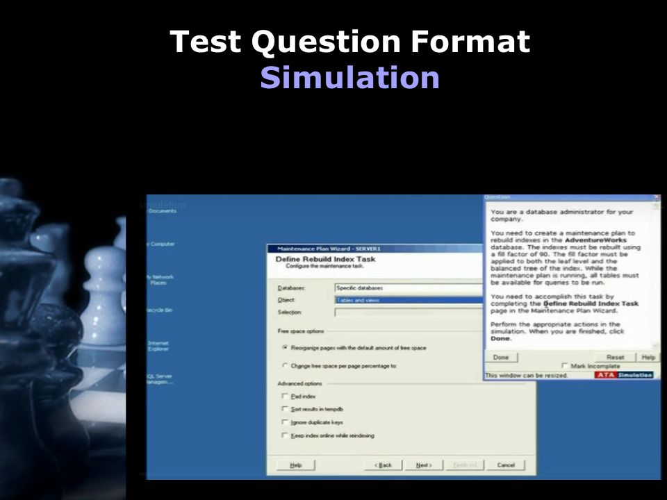 Test Question Format Simulation