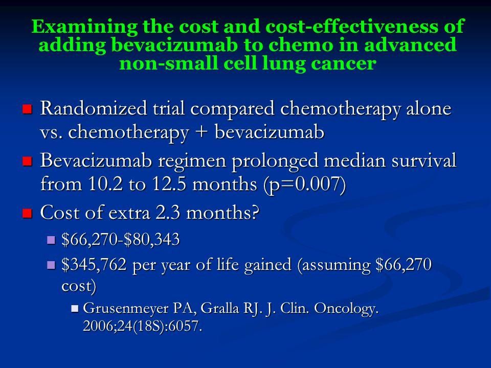 Randomized trial compared chemotherapy alone vs.
