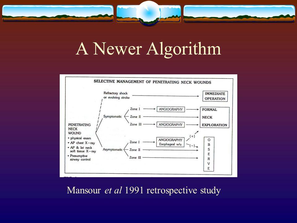 A Newer Algorithm Mansour et al 1991 retrospective study