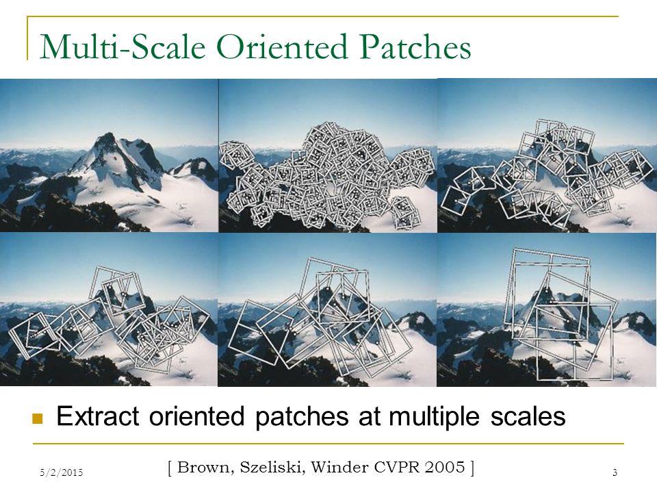 5/2/20154 Application: Image Stitching [ Microsoft Digital Image Pro version 10 ]